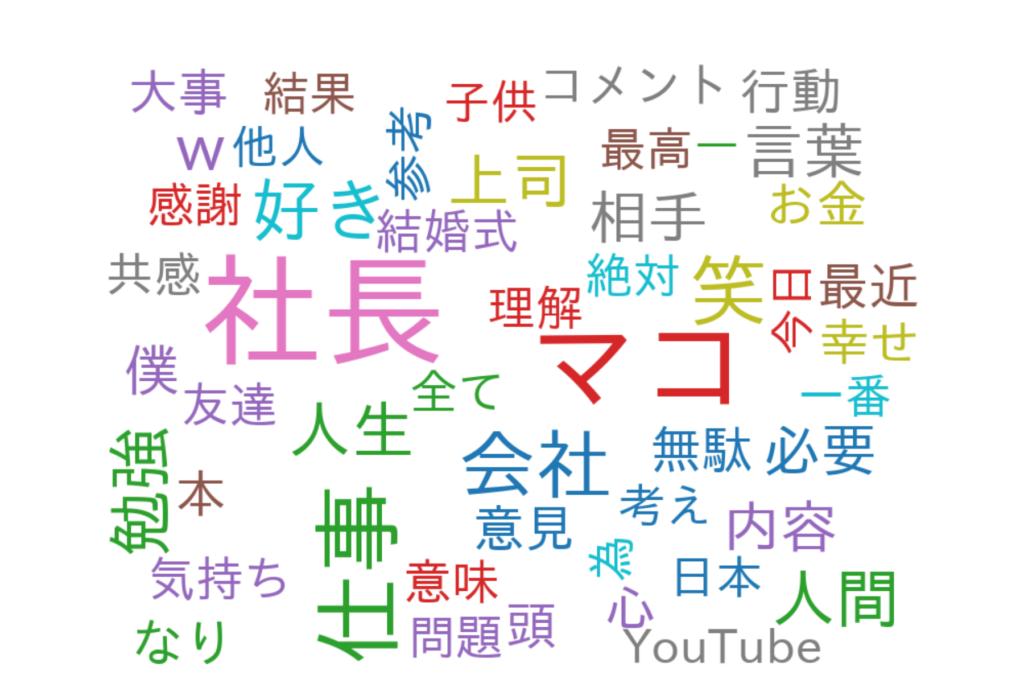マコなり社長-コメント可視化